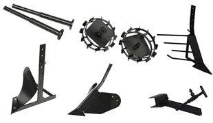 Комплект насадок для FJ500 (грунтозацепы, удлинитель, плуг, картофелевыкапыватель, окучник, сцепка) в Аксайе